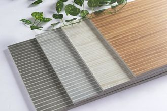 Wooden Strip Porcelain Ceramic Wall Tile For Bar , Hotel Energy - Saving